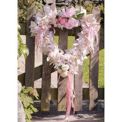 Large Wedding Ribbon Heart
