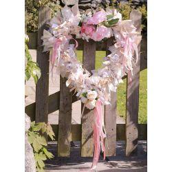 large ribbon heart Wreath Kit