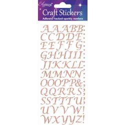 Rose Gold Stylised Alphabet Stickers