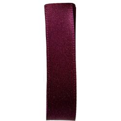 Shindo Double Satin Ribbon Colour in Aubergine (Col 184) - 3mm - 38mm widths