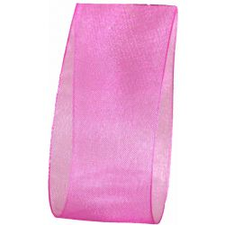 Hot Pink Sheer Ribbon 38mm Wide