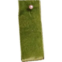 Velvet Ribbon By Berisfords Ribbons Col: Moss 9549 - available in 9mm - 50mm widths