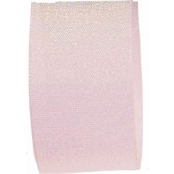 Candy Shimmer Ribbon in White - 38mm x 10m