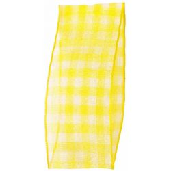 Sheer Gingham Ribbon Col: Golden Yellow